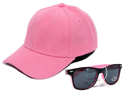 SET Cappy + Sonnenbrille Kinder Kids Mädchen Kappe Schirm-Mütze Cap UV400 Rosa