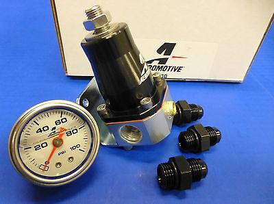 Aeromotive 13130 Fuel Pressure Regulator Gauge Fitting Combo Kit EFI Bypass