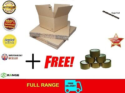 NEW 20 X LARGE Cardboard House Moving Boxes - Removal Packing box brown tape