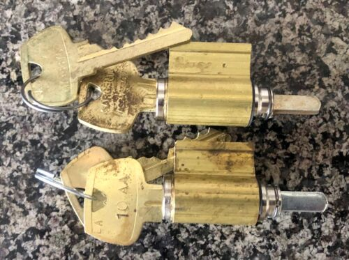 SARGENT KEY IN LEVER CYLINDER WITH 2 KEYS LOT OF 2