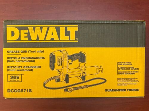"DEWALT DCGG571B 20 Volt Max Li-Ion Cordless Grease Gun 42"" Flex Hose Lithium Ion"