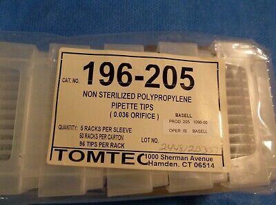 1500 Tomtec Non-sterilized Poly. Pipette Tips 0036 Orifice-196-205--lab 1064