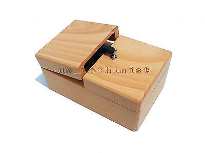 Wooden Leave Me Alone Box Useless Box Useless Machine Assembled Free shipping