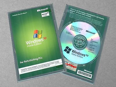 Microsoft Windows XP Home Edition SP3 - RFB Full Version CD, COA Product KEY
