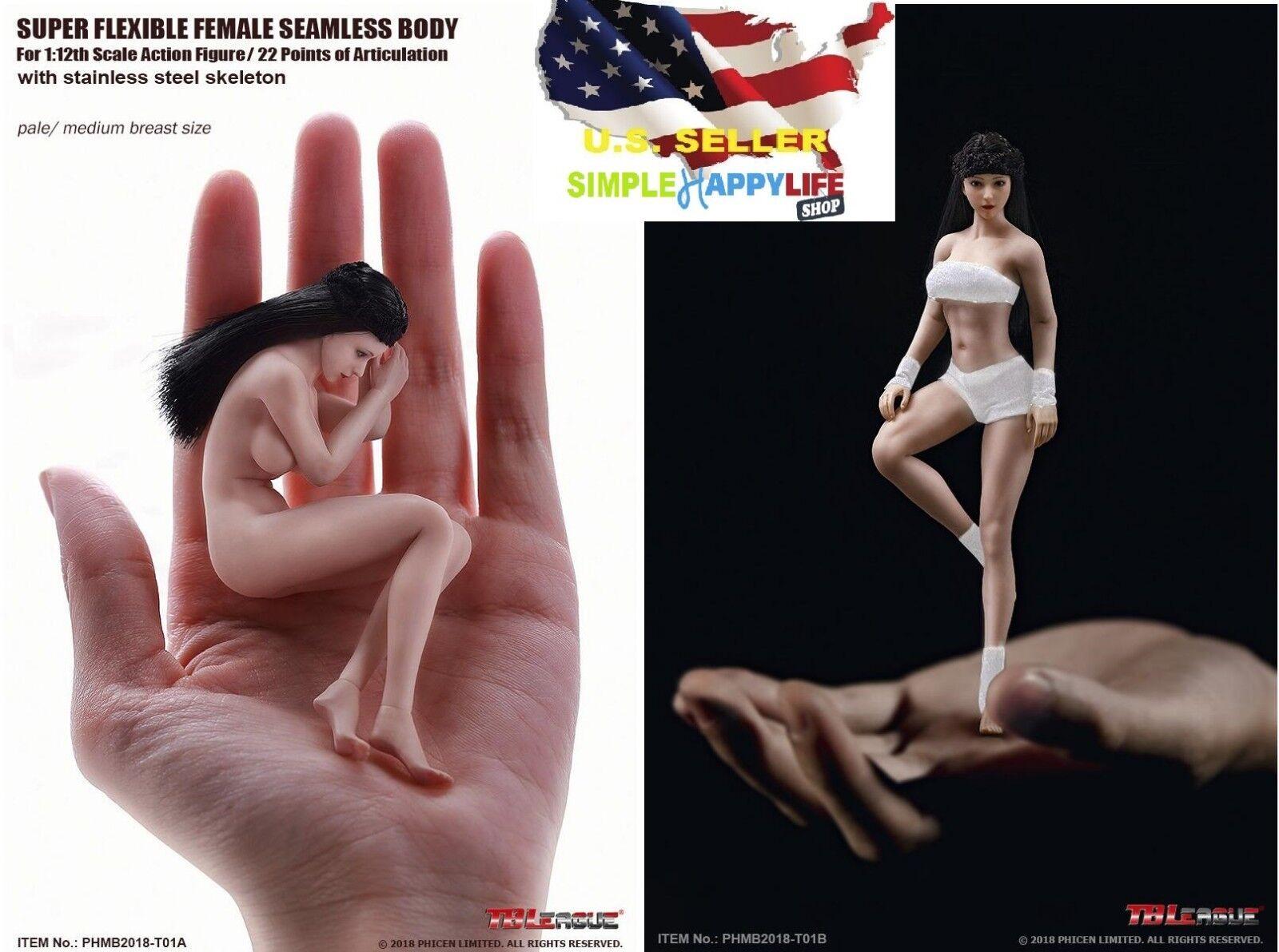"TBLeague PHICEN 1/12 Female Seamless Body PHMB2018-T01 6"" Figure barbie ❶USA❶"