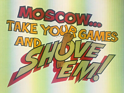 Vintage Transferslot Of 4moscow..take Your Games Banned History Repeats Itself