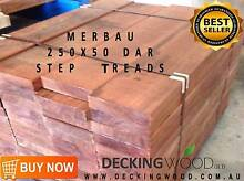 Merbau 250X50 Step Treads SET LENGTHS 1.2M $46.50/m Pack Lot Rate Coopers Plains Brisbane South West Preview