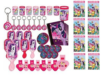 (48pc) My Little Pony FAVOR PACK  WITH 8 LOOT BAGS Party Supply Goody Bags - My Little Pony Bags