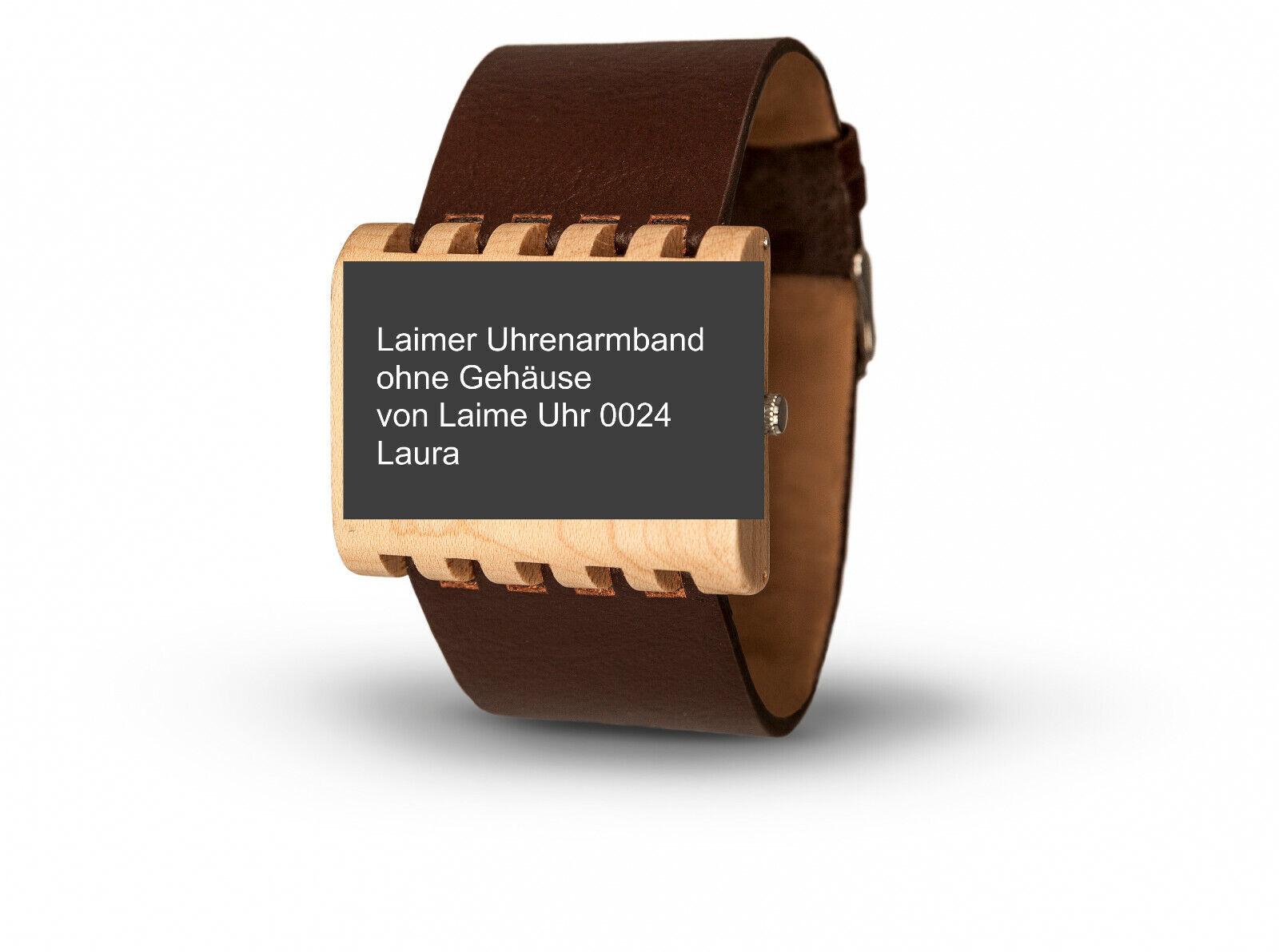 Laimer Uhrenarmband, Armband 35 mm Breit Dornschließe braun f Modell 0024 LAURA