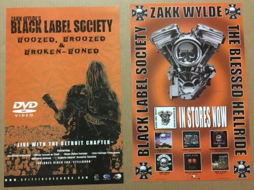 Zakk Wylde BLACK LABEL SOCIETY Rare 2003 DOUBLE SIDED PROMO POSTER 4 Blessed CD
