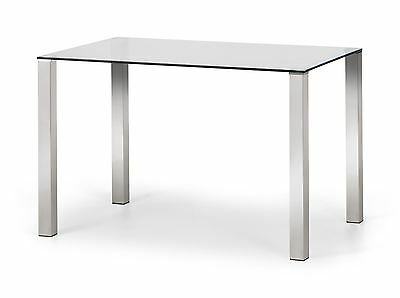 Julian Bowen Enzo Glass Top & Chrome Dining Table Only Rectangle 120cm