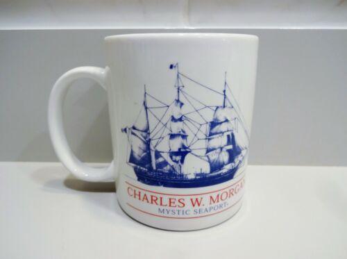 Vtg CHARLES W. MORGAN MYSTIC SEAPORT MUG Cup Sailing Ship Whaleship Museum CT