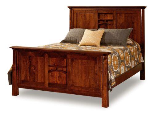 Amish Panel Bed Artesa Contemporary Solid Hardwood Bedroom Furniture King Queen