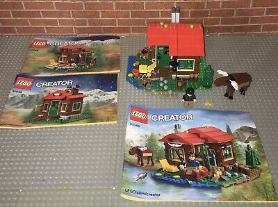 Lego 31048 Creator Lakeside Lodge Complete Set Manuals Minifigure 3-in-1