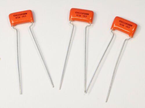 Sprague Orange Drop Capacitor 3 PACK .047uF NEW 200 Volt .047 Guitar Bass Part