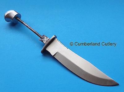 Knife Making  Blade Blank With  Aluminum Pommel Hunting Skinning