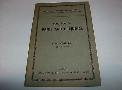 Jane Austin Pride And Prejudice J M Evans Brodie Notes Chosen English Text Study
