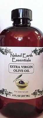 100% Extra Virgin Olive Oil Unrefined Naked Earth Essentials (8 OZ) Extra Virgin Ground Olive Oil