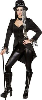 Female Steampunk Outfits (Ladies Deluxe Gothic Vampire Madam Halloween Horror Fancy Dress Costume)