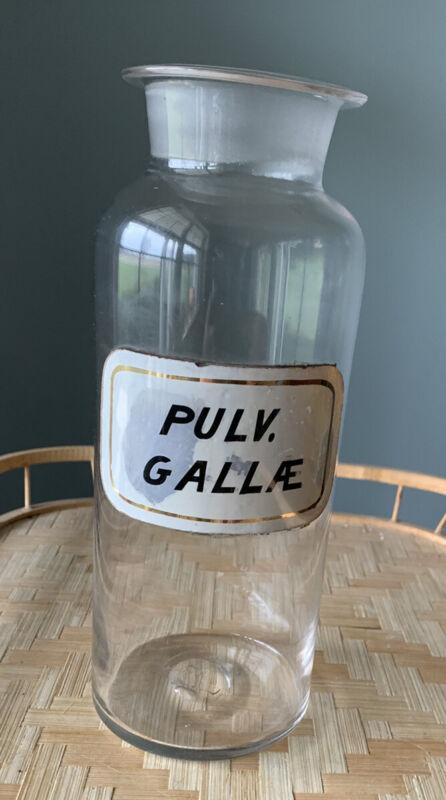 ANTIQUE APOTHECARY DRUGSTORE MEDICINE LABEL UNDER GLASS BOTTLE Pontil Mark