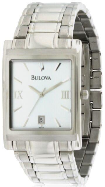 jacob time 96b108 bulova stainless steel mens watch silver dial bulova stainless steel mens watch 96b108