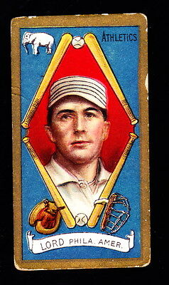 1911 T205 BRISCOE LORD A'S SWEET CAPORAL BACK