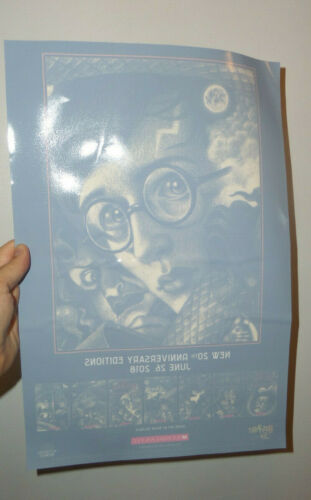 Harry Potter 20th Anniversary Window Cling Promo Sticker Poster Book Orig. Rare
