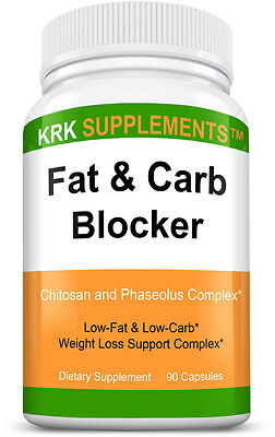Fat and Carb Blocker White Bean Extract 90 Capsules