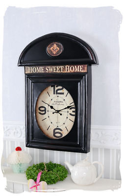 Nostalgia Clock Vintage Clock Home Sweet Home English Clock Black Wall Clock