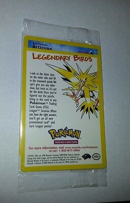 ARTICUNO - Pokemon Legendary Bird Promo Card - MINT SEALED NEW