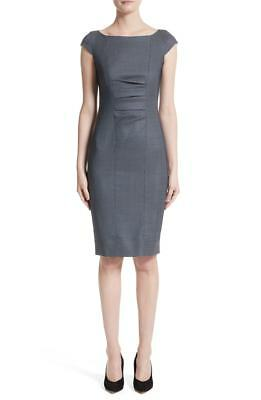 NWT MAX MARA Tasso Stretch Wool & Silk Sheath Dress Women's 8 $795