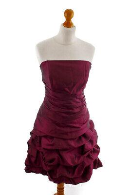 Abendkleid Cocktailkleid trägerlos Korsagenkleid magenta Taft 44 46 online kaufen