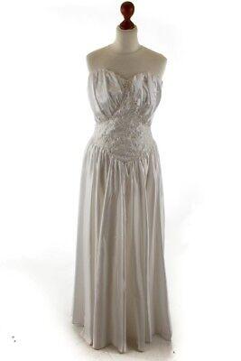 Best ausgefallen Brautkleid weiß Hochzeitskleid D´ART Schimmer Satin 36 38