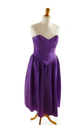 %SALE% Vintage Abendkleid lila Taft Cocktailkleid Kleidschulterfrei Korsage 40 online kaufen