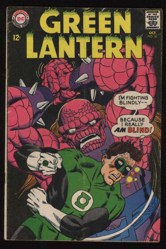 Green Lantern #56 VG 4.0 OW Pgs Hal Jordan Silver Age SA Vol 2 DC Comics