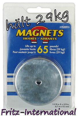 Rundmagnet Leistungsmagnet Dauermagnet Magnet hält 29kg PORTOFREI