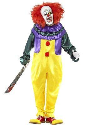 Herren Klassisch Horror Clown Halloween Film Tv Kostüm Kleid Outfit M-XL