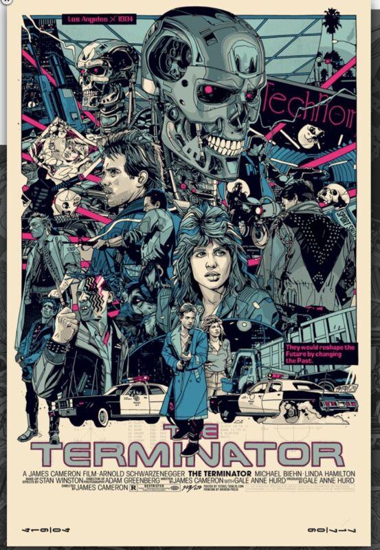 The Terminator By Tyler Stout Regular Timed Edition Mondo Artist Screenprint