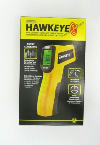 General Hawkeye Non-Contact Infrared Thermometer Digital Quick Temperature New