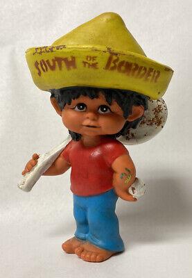 Vintage South Of The Border North Carolina Advertising Rubber Doll Souvenir
