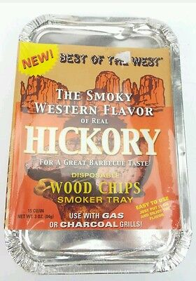 BBQ Woodchips - Disposable Smoker Tray For Gas or Coal, Best Of The West