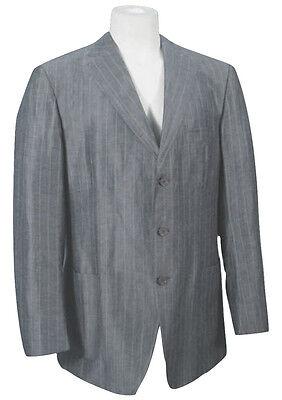 NEW Ermenegildo Zegna Sportcoat (Blazer)! US 46 e 56  Gray Pinstripe  Silk Linen
