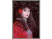Kate Bush SIGNED Photo 1st Generation PRINT Ltd Certificate 2 No./'d