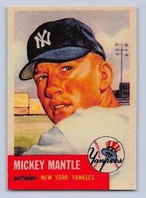 1953  Mickey Mantle   Topps  Reprint  Baseball Card   82   New York Yankees