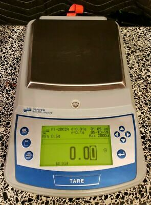 Denver Instrument Pi-2002n Balance D0.01g Max2000.00g Lab Scale Working Great