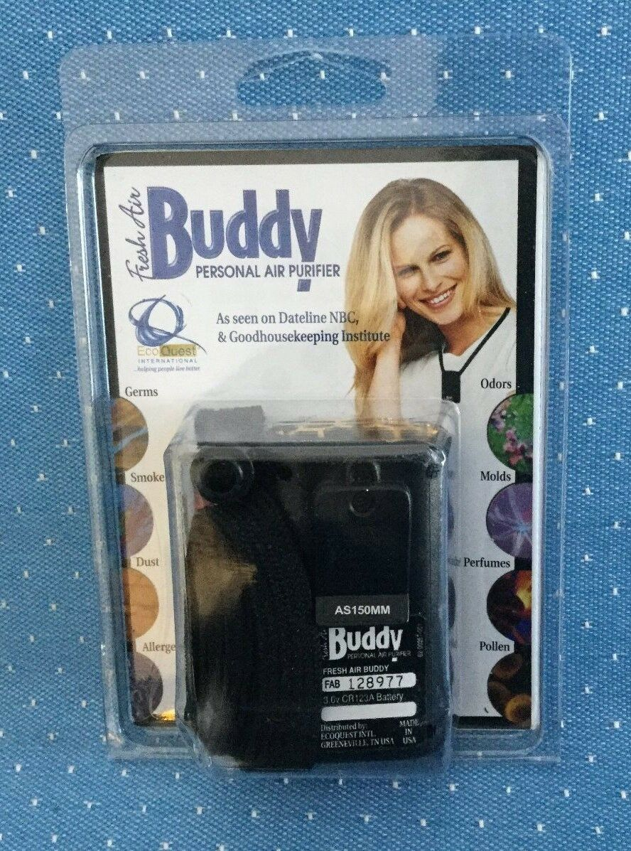"""Fresh Air Buddy (Ecoquest) Personal Purifier, Battery and cord, New, 2.5x1.5x1"""""""