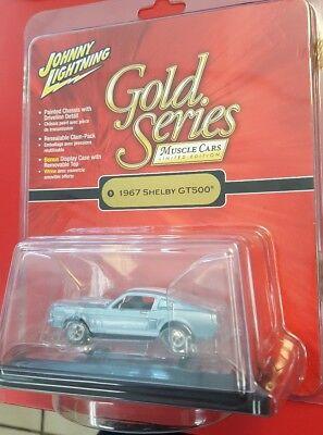 (JOHNNY LIGHTNING GOLD SERIES 1967 SHELBY MUSTANG GT500 NIB 1/64  FREE SHIPPING)