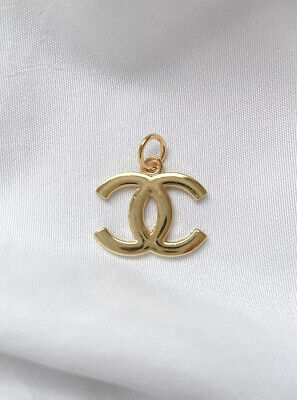 Chanel CC Logo Gold Plated Button Metal Zipper Pull, 21mm