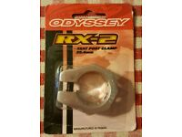 ODYSSEY RX-2 NOS 25.4MM BLACK SEAT POST CLAMP OLD SCHOOL BMX PEREGRINE HARO GT