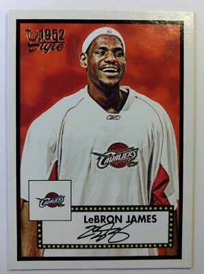 2005-06 Topps 1952 Style Lebron James #111, Cleveland Cavaliers